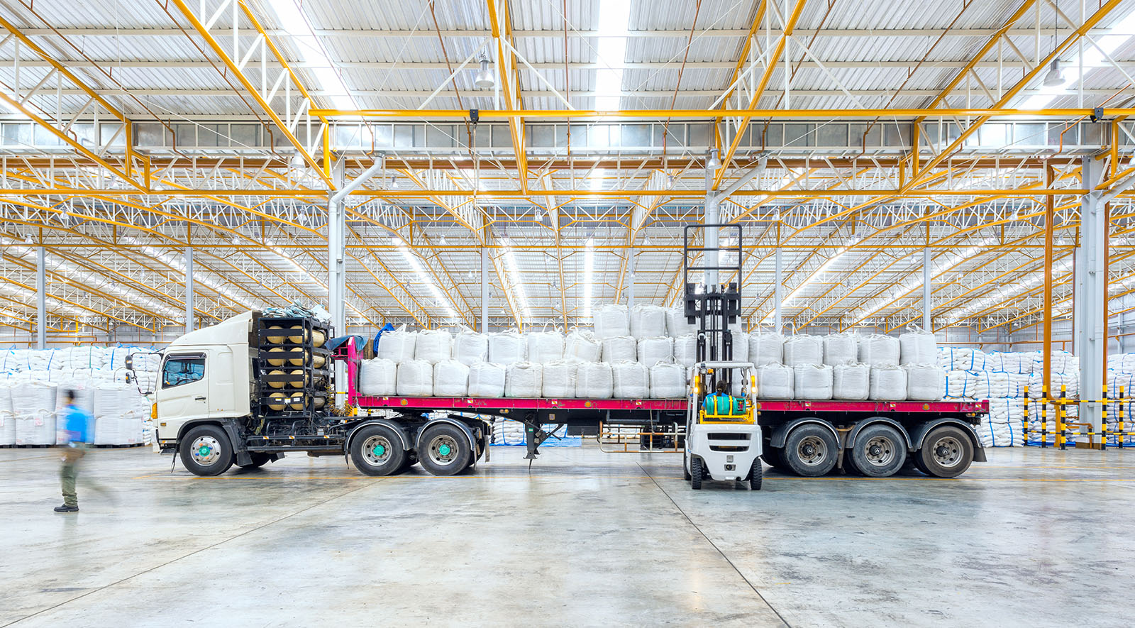 Huge distribution shipping warehouse for Global business shipping