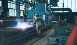 engineer working at manufacturing premises